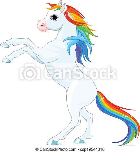 Rainbow horse - csp19544318