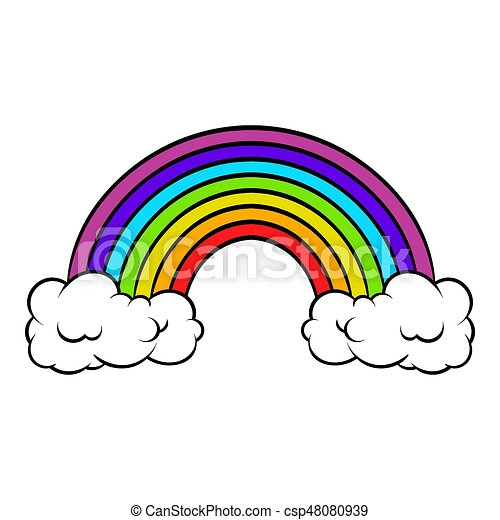 Rainbow Icon Icon Cartoon Rainbow Icon In Icon In Cartoon Style