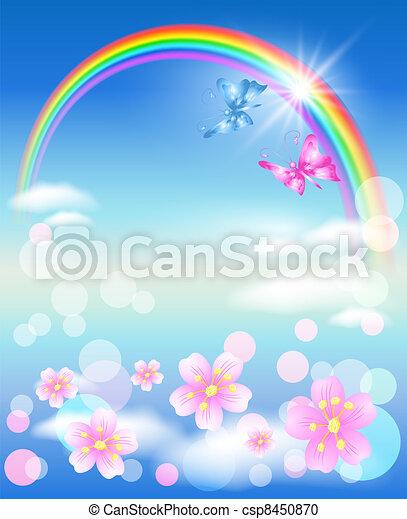 Rainbow in the sky - csp8450870