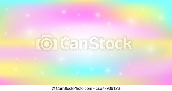 Rainbow light abstract background vector - csp77939126