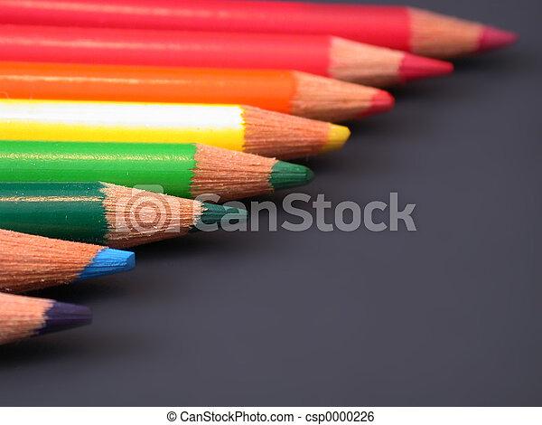 Rainbow of pencils - csp0000226