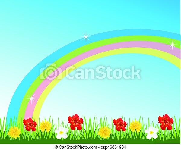 Rainbow on sky - csp46861984