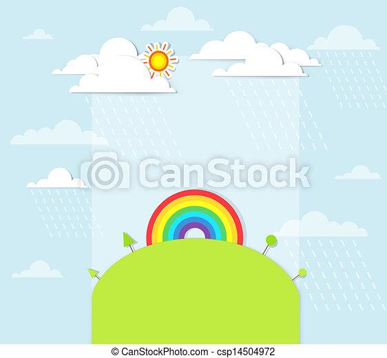 rainbow on the hill - csp14504972