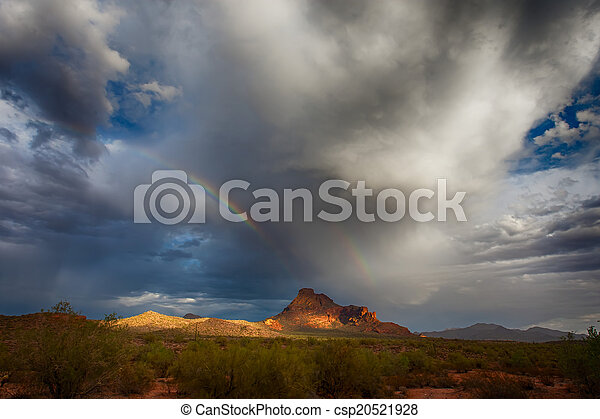 Rainbow Over Mountain - csp20521928