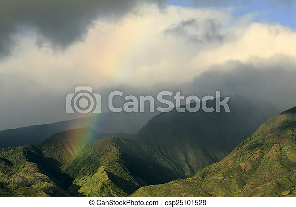 Rainbow Over the Mountains - csp25101528