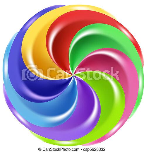 Rainbow Peppermint Christmas Candy - csp5628332