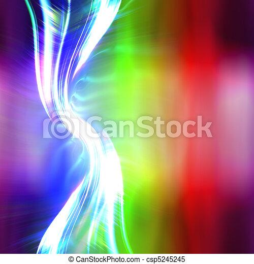 Rainbow Plasma Fractal Layout - csp5245245