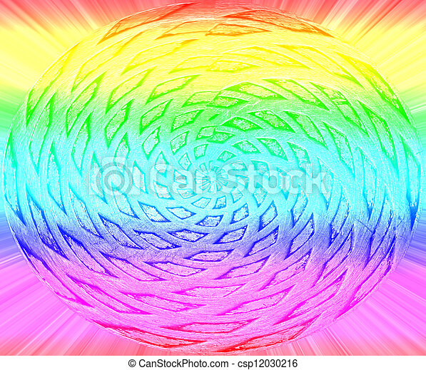 rainbow rotated round figure, disco diversity - csp12030216