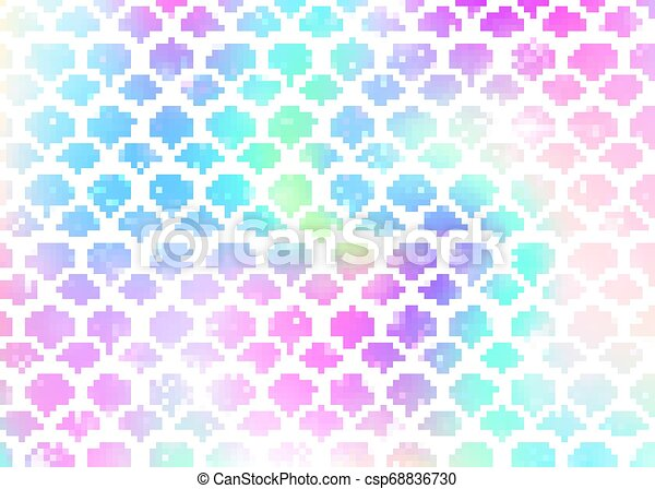 rainbow scales background with kawaii eps vectors csp68836730