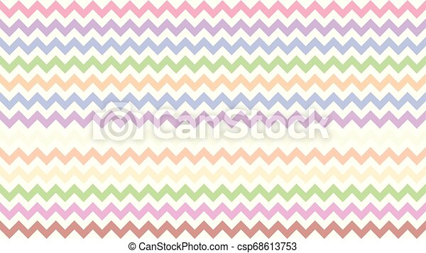 Rainbow Serrated Striped Colorful For Background Art Line Shape Zig Zag Doodle Pastel Wallpaper Stroke Line Parallel Wave Canstock