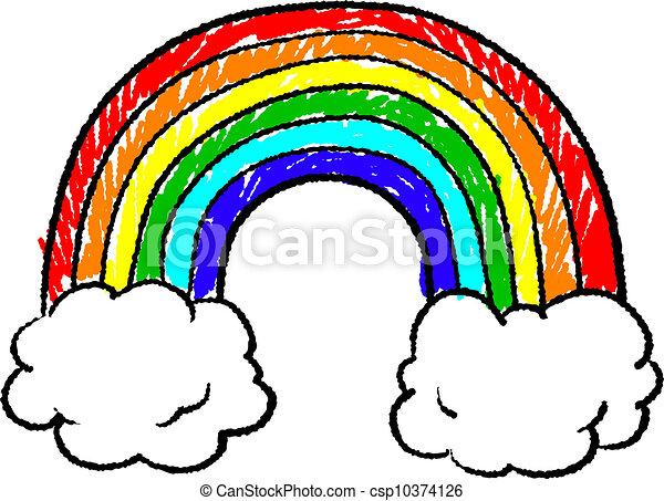 Rainbow sketch - csp10374126