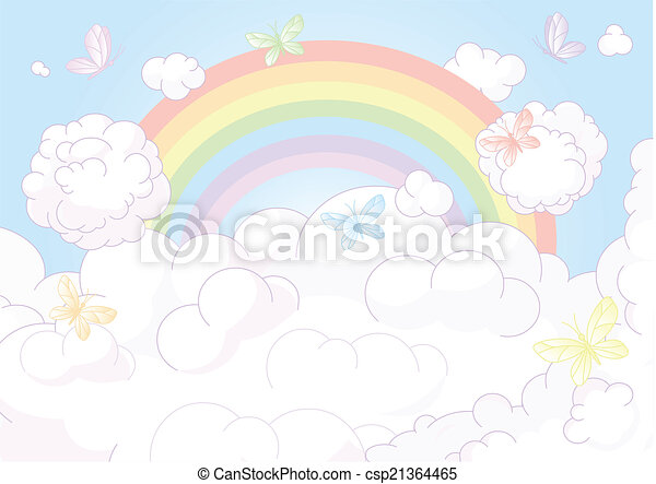 Rainbow sky - csp21364465