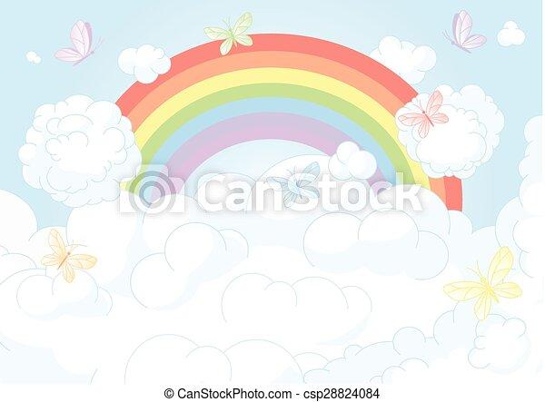 Rainbow Sky - csp28824084