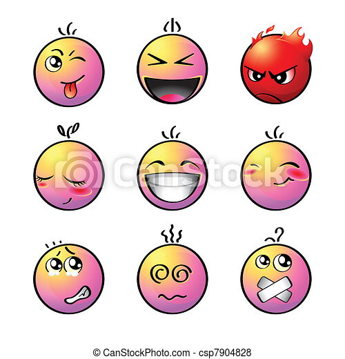 Rainbow smileys | Set 1 - csp7904828