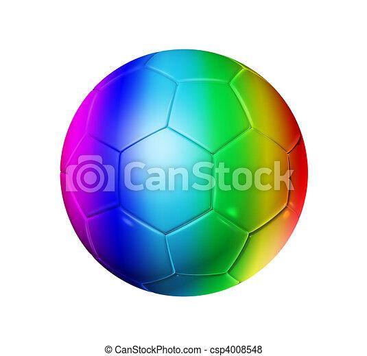 Rainbow Soccer Football Ball 3d Rainbow Soccer Ball Isolated On White