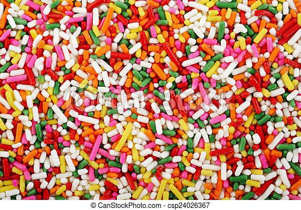 rainbow sprinkles background - csp24026367