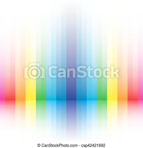 rainbow striped background - csp42421692
