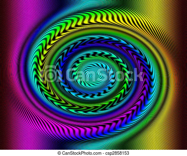 Rainbow Swirl Optical Illusion - csp2858153