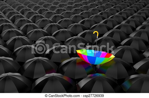 Rainbow umbrella - csp27726939
