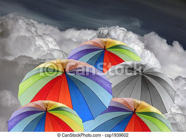 Rainbow umbrellas - csp1939602