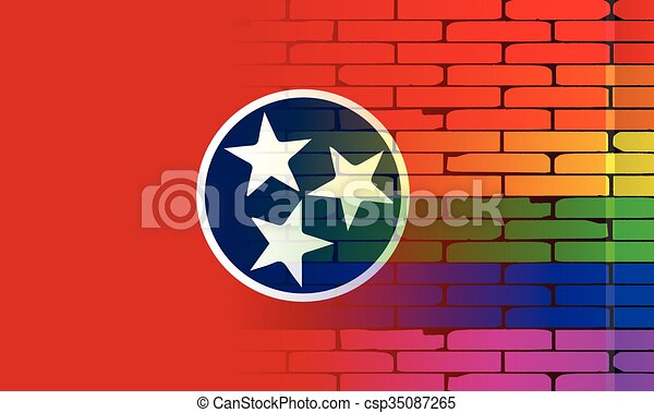 Rainbow Wall Tennessee - csp35087265