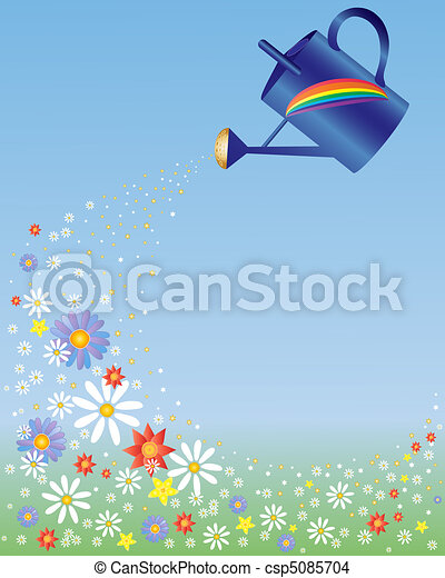 rainbow watering can - csp5085704