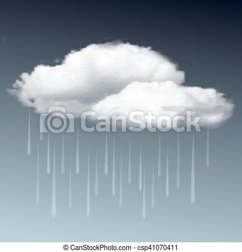 Raincloud and rain in the dark sky - csp41070411