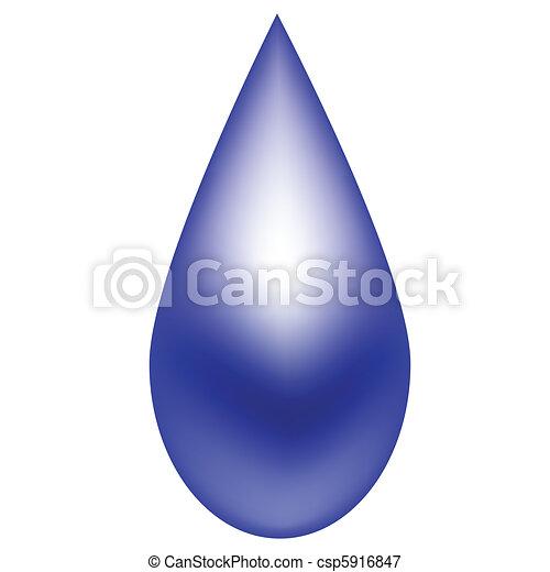 Raindrop Blue - csp5916847