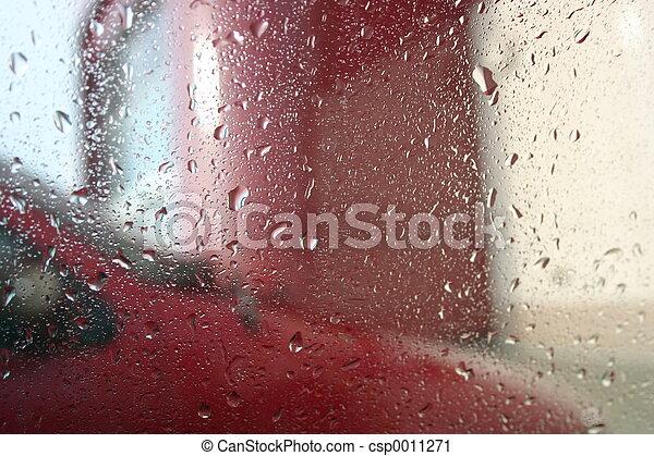 Raindrops on Window - csp0011271