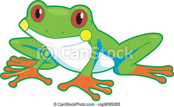 Illustration of a rainforest frog vectors - Search Clip ...
