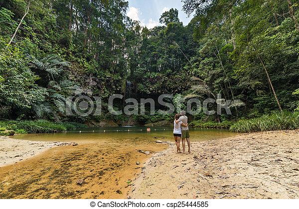 Rainforest natural pool - csp25444585