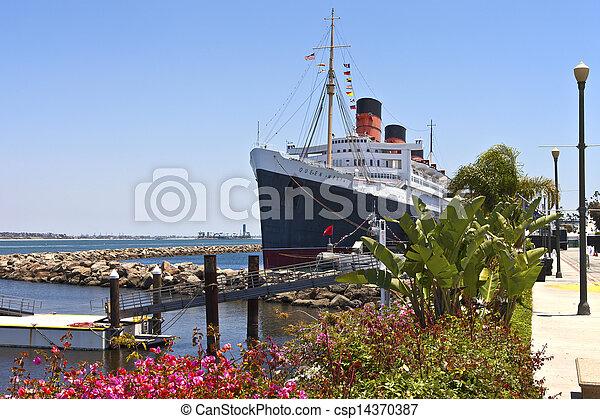 rainha, praia, mary, longo, california. - csp14370387