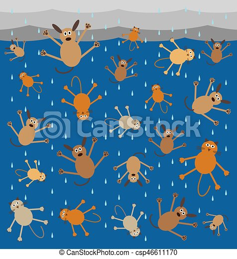 Raining Cats and Dogs - csp46611170