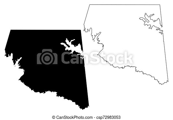Rains County, Texas (Counties in Texas, United States of America, USA, U.S., US) map vector illustration, scribble sketch Rains map - csp72983053