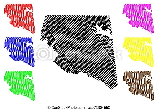 Rains County, Texas (Counties in Texas, United States of America, USA, U.S., US) map vector illustration, scribble sketch Rains map - csp73804550