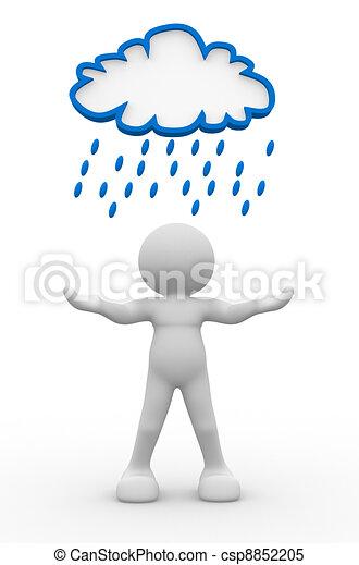 Rainy cloud - csp8852205