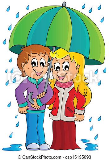 Rainy Weather Theme Image 1 Eps10 Vector Illustration
