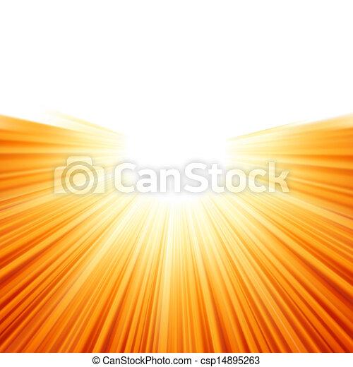 raios, eps, luz solar, tenplate., 8, sunburst - csp14895263