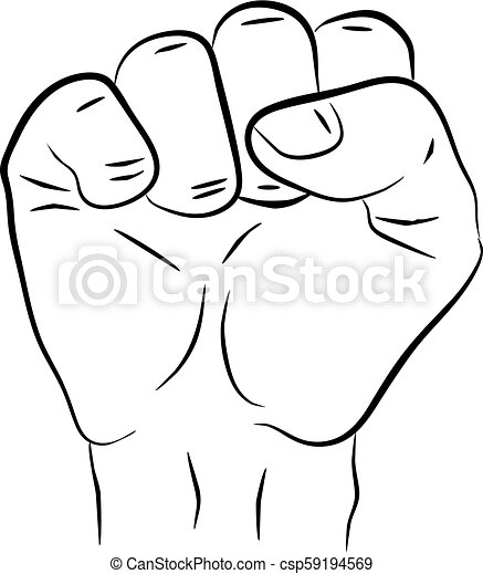 Raised Hand Showing A Fist A Symbol Of Strength And Superiority