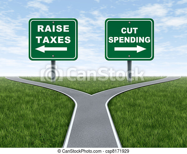 Raising taxes or cutting spending - csp8171929