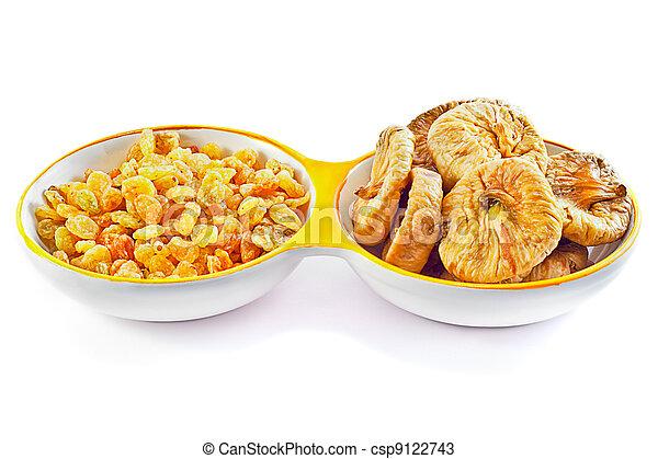 Raisins and Dried Figs - csp9122743
