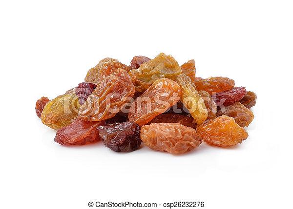 raisins isolated on white background - csp26232276