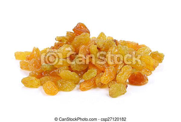 raisins isolated on white background - csp27120182