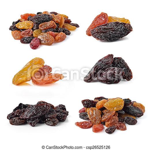 raisins isolated on white background - csp26525126