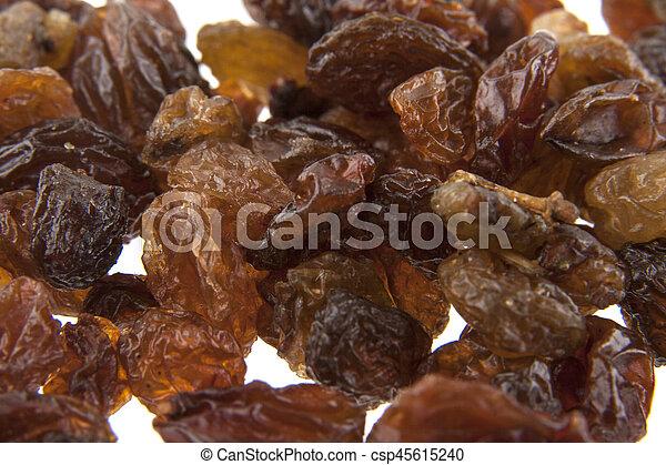 raisins isolated on white background - csp45615240
