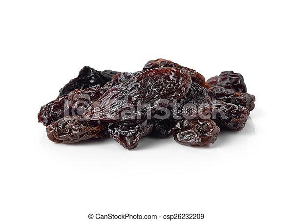 raisins isolated on white background - csp26232209
