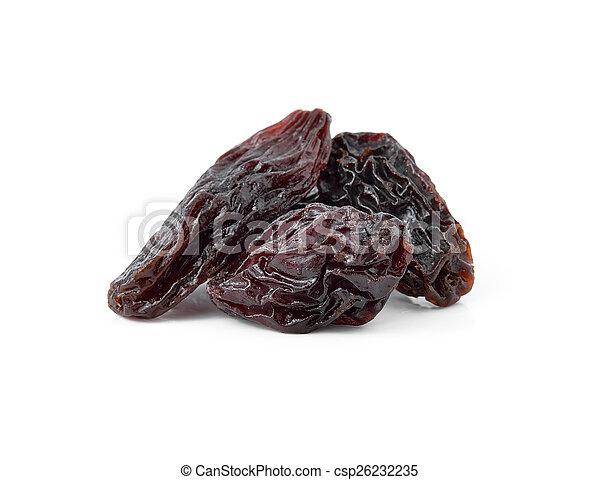 raisins isolated on white background - csp26232235