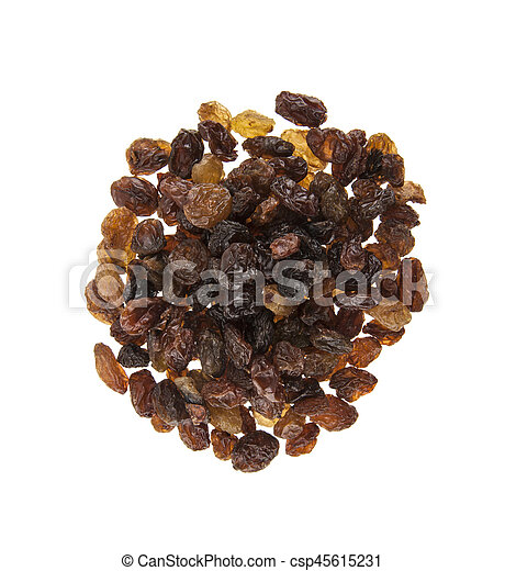raisins isolated on white background - csp45615231