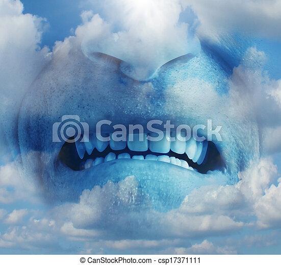raiva, emoção, raiva - csp17371111
