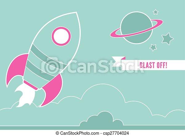 rakieta, przestrzeń - csp27704024